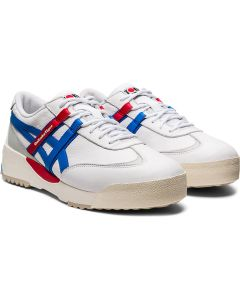 ONITSUKA TIGER Delegation Ex Unisex Shoe in White/Electric Blue