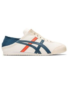 ONITSUKA TIGER Mexico 66 Paraty Unisex Shoe in Cream/Mako Blue