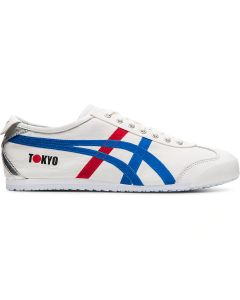 ONITSUKA TIGER Mexico 66 Unisex Shoe in White/Directoire Blue