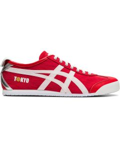 ONITSUKA TIGER Mexico 66 Unisex Shoe in Classic Red/White