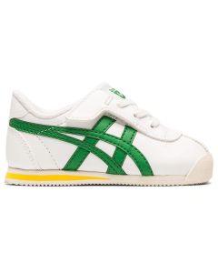 ONITSUKA TIGER Corsair TS Kid's Shoe in White/Green