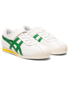 ONITSUKA TIGER Corsair PS Kid's Shoe in White/Green