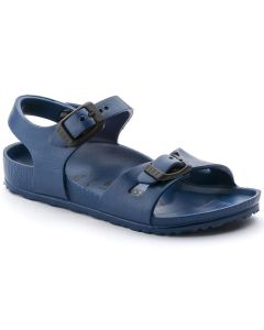 BIRKENSTOCK Rio Essential EVA Kids Narrow Width Sandals in Navy