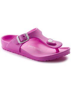 BIRKENSTOCK Gizeh EVA Kids Narrow Width Sandals in Neon Pink