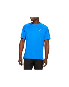ASICS Men's ICON SS Top Short Sleeve Shirt in Directoire Blue/ Performance Black
