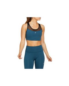 ASICS Women's THE NEW STRONG BRA in Performance Black/Magnetic Blue