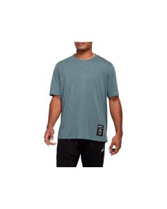 ASICS Men's BRANDED GRAPHIC TEE in Magnetic Blue/Heather