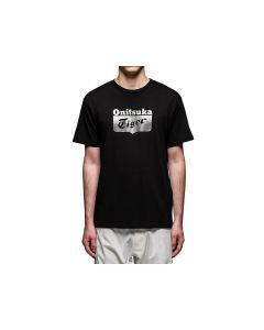 ONITSUKA TIGER Unisex Logo Tee in Performance Black/Sliver