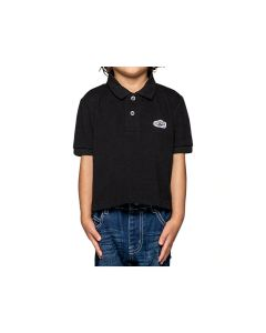 ONITSUKA TIGER Kids Polo Shirt in Performance Black