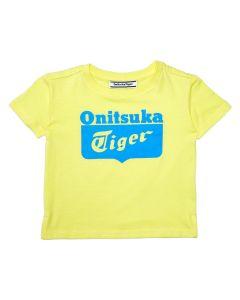ONITSUKA TIGER Kids Logo Tee in Acid Yellow
