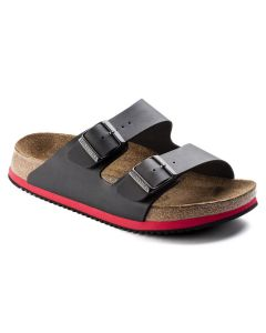 BIRKENSTOCK Arizona Super Grip Birko-Flor Regular Width Sandals in Black