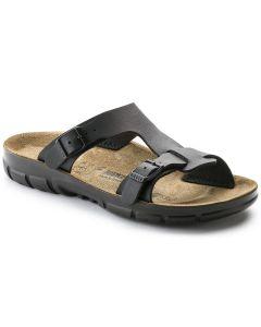 BIRKENSTOCK Sofia Birko-Flor Unisex Narrow Width Sandals in Black