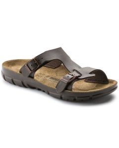 BIRKENSTOCK Sofia Birko-Flor Unisex Narrow Width Sandals in Dark Brown