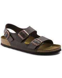 BIRKENSTOCK Milano Birko-Flor Unisex Regular Width Sandals in Dark Brown