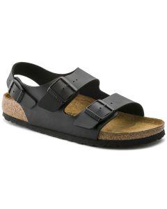 BIRKENSTOCK Milano Birko-Flor Unisex Regular Width Sandals in Black