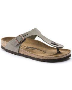 BIRKENSTOCK Gizeh Birko-Flor Unisex Regular Width Sandals in Stone