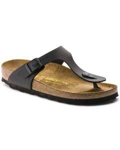 BIRKENSTOCK Gizeh Birko-Flor Unisex Regular Width Sandals in Black