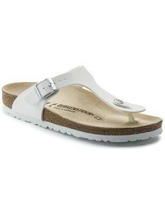 BIRKENSTOCK Gizeh Birko-Flor Unisex Regular Width Sandals in White