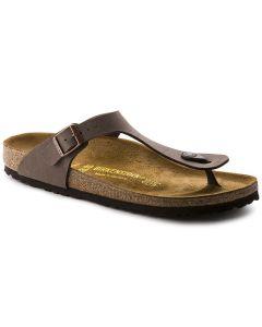 BIRKENSTOCK Gizeh Birko-Flor Women's Narrow Width Sandals in Mocha