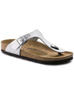 BIRKENSTOCK Gizeh Birko-Flor Women's Narrow Width Sandals in Silver