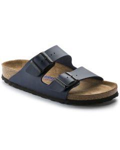 BIRKENSTOCK Arizona Birko-Flor Soft Footbed Women's Narrow Width Sandals in Blue