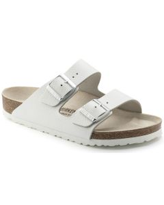BIRKENSTOCK Arizona Natural Leather Unisex Regular Width Sandals in White