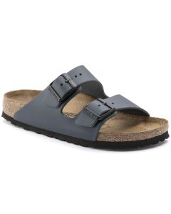 BIRKENSTOCK Arizona Natural Leather Unisex Regular Width Sandals in Blue