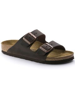 BIRKENSTOCK Arizona Oiled Leather Unisex Regular Width Sandals in Habana