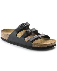 BIRKENSTOCK Florida Birko-Flor Soft Footbed Women's Regular Width Sandals in Black