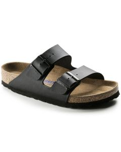 BIRKENSTOCK Arizona Birko-Flor Soft Footbed Unisex Regular Width Sandals in Black