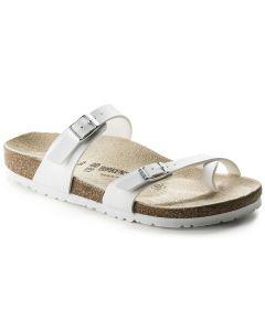 BIRKENSTOCK Mayari Birko-Flor Unisex Regular Width Sandals in White