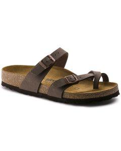 BIRKENSTOCK Mayari Birko-Flor Unisex Regular Width Sandals in Mocha