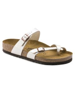 BIRKENSTOCK Mayari Birko-Flor Women's Regular Width Sandals in Graceful Pearl White