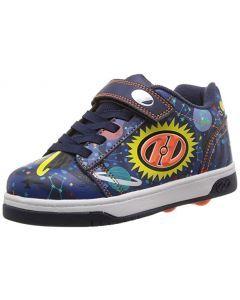 HEELYS Dual Up X2 Roller Sneaker in Navy/Royal/Lime