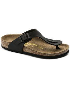 BIRKENSTOCK Gizeh Birko-Flor Kids Regular Width Sandals in Black