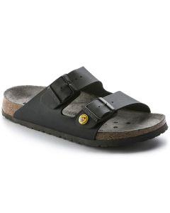 BIRKENSTOCK Professional Arizona ESD Birko-Flor Unisex Regular Width Sandals in Black
