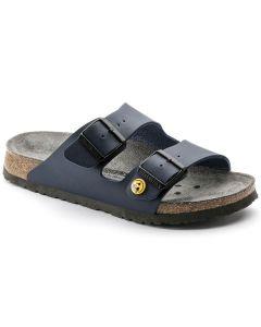 BIRKENSTOCK Professional Arizona ESD Birko-Flor Unisex Regular Width Sandals in Blue