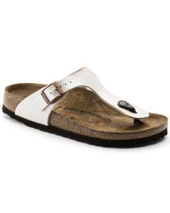 BIRKENSTOCK Gizeh Birko-Flor Women's Regular Width Sandals in Graceful Pearl White