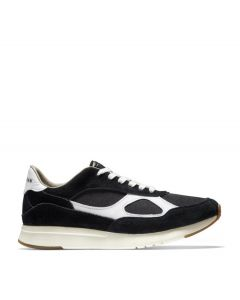 COLE HAAN GRANDPRØ Men's Classic Running Sneaker in Black Suede-Optic White