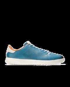 COLE HAAN GRANDPRØ Men's Tennis Sneaker in Crystal Blue-Ivory Birch