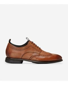 COLE HAAN Holland Long Men's Wing Oxford in British Tan