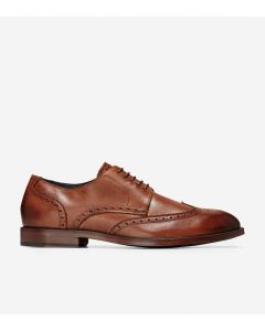 COLE HAAN Harrison Men's Wingtip Oxford in British Tan