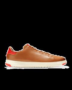 COLE HAAN GRANDPRØ Men's Tennis Sneaker in British Tan-Flame Scarlet