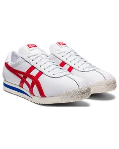 ONITSUKA TIGER Corsair Unisex Shoe in White/Classic Red