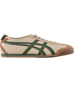 ONITSUKA TIGER Mexico 66 Unisex Shoe in Beige/Grass Green