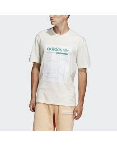 ADIDAS ORIGINALS Kaval Men's Graphic Tee in in Running White