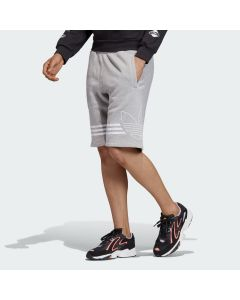 ADIDAS ORIGINALS Men's Outline Shorts in Medium Grey Heather