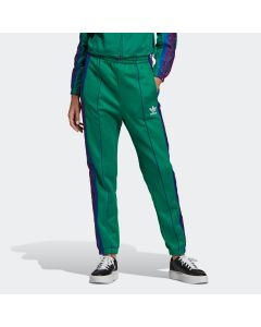 ADIDAS ORIGINALS Women's Floral Track Pants in Bold Green