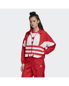 ADIDAS ORIGINALS Large Logo Women's Track Jacket in Lush Red/White