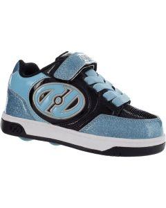 HEELYS Plus X2 Roller Sneaker in Aqua Glitter/Black